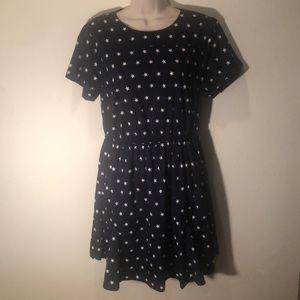 Cute ModCloth Navy & Stars Dress L